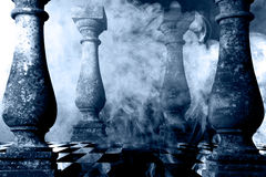 Background in fantasy art with smoke Royalty Free Stock Photo