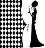 Background fantasy of black lady Stock Image