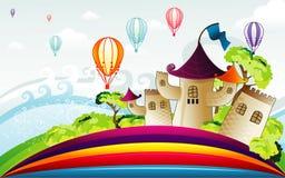 Background fantasy landscape Stock Images