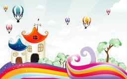Background fantasy landscape Stock Photo
