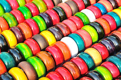 Background of Fashion multicolored bangles Royalty Free Stock Images