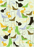 Background from fashion shoes. Stock Images