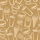 Background with fast food vector illustration