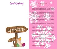 Background for the feast of the Epiphany Royalty Free Stock Photography