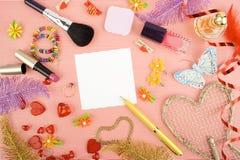 Background for female holidays Royalty Free Stock Photos