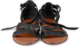 Female shoes on white background stock photo