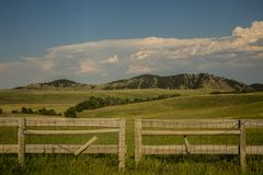 Background and Fence in Custer State Park in South Dakota Royalty Free Stock Photography