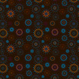 Background with Ferris Wheel or Dark Board Design 2. Wallpaper pattern with ferris wheel & dart board design, brown background, illustration Royalty Free Stock Images