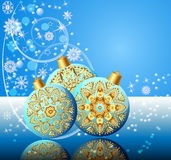 Background with festive ball Royalty Free Stock Image