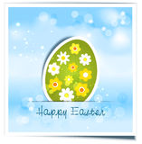 Background with festive Easter egg Royalty Free Stock Photography
