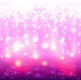 Background with festive lights and bokeh Stock Photography