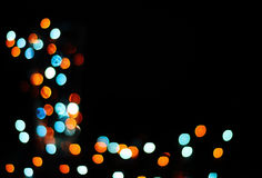 Background with festive lights. Golden and turquoise colors royalty free stock image