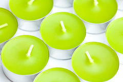 Background of a few tea candles Stock Images