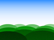 Background with field and sky. Illustration of background, field, sky Stock Photo