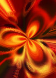 Background with fiery pattern. Illustration Stock Photography