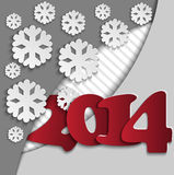 Background with figures 2014. New Years background with paper figures 2014 Stock Photography