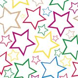 Background from figures star. Decorative background from varicoloured figures star on white background Stock Images