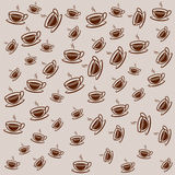 Background filled with coffee cups Royalty Free Stock Photos