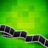 Background with film reel. Abstract green background with film reel royalty free illustration