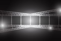 Background with film strip. Cinema concept vector illustration. Cinema concept vector illustration. Background with film strip Stock Photography