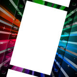 Background Filmstrip Means Empty Space And Abstract. Color Filmstrip Indicating Text Space And Photography Stock Photos