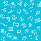Background, Finance, money, Economics, seamless, blue. Royalty Free Stock Photo