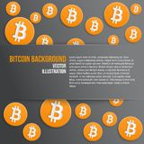 Background of financial currency Bitcoin Royalty Free Stock Images