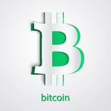 Background of financial currency Bitcoin Royalty Free Stock Photo