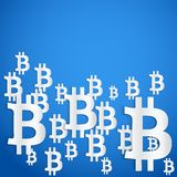 Background of financial currency Bitcoin Royalty Free Stock Photography