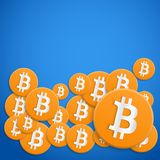 Background of financial currency Bitcoin Stock Photography