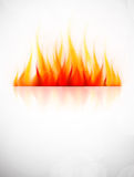 Background with fire. Flame. Abstract hot illustration Stock Photos
