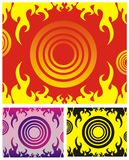 Background with fire. Vector background with fire in various colors Stock Photos