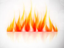 Vector fire. Background with fire. Abstract illustration Stock Photos