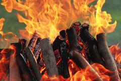 Background of fire as a symbol of hell and eternal torment Stock Photography