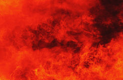 Background of fire as a symbol of hell and inferno Royalty Free Stock Images