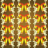 Background with fire birds. Abstract background with fire birds Stock Images