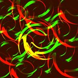 Background of fire circles. Fireballs and spheres with color overlay Royalty Free Stock Image