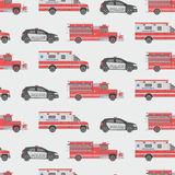 Background of the fire engine, ambulance and police Royalty Free Stock Images