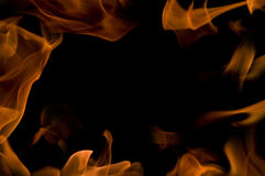 Background with fire frames Royalty Free Stock Photo
