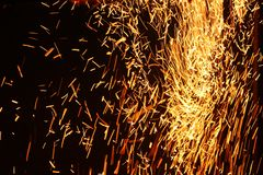 Background with fire spark Royalty Free Stock Images