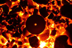 Background of fire stones. Stock Images