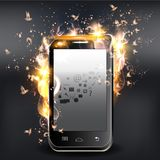 Background with fire and vector Stock Photos