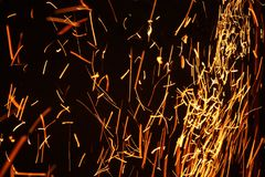 Background with fire spark Stock Images