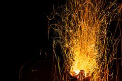 Background of fireplace with sparks Royalty Free Stock Images
