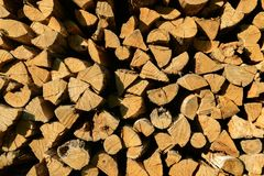 Background of firewood royalty free stock photos