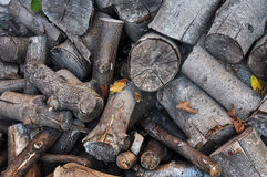 Background firewood Stock Photo