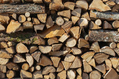 Background of firewood stack Stock Photo