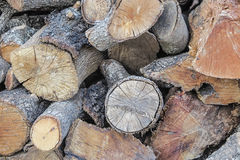 Background with firewood trunks. Background with some trunks of firewood stacked royalty free stock photo