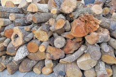 Background with firewood trunks. Background with some trunks of firewood stacked royalty free stock image