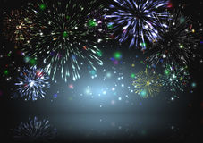 Background with firework Stock Images